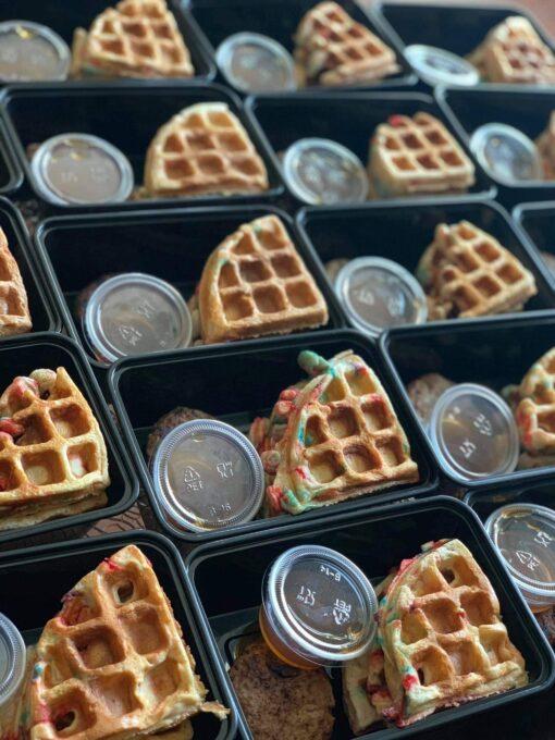Apple Cinnamon Protein Waffles