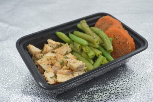 Grilled Chicken Green Beans and Sweet Potatoes