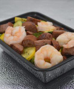Low Carb Garlic Herb Sausage and Shrimp